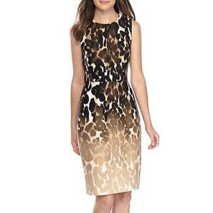 Calvin Klein Animal Printed Scuba Sheath Dress 4